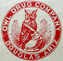 Owl Drug Company logo 1917 Douglas Arizona - Eight Famous Owl Brand Names
